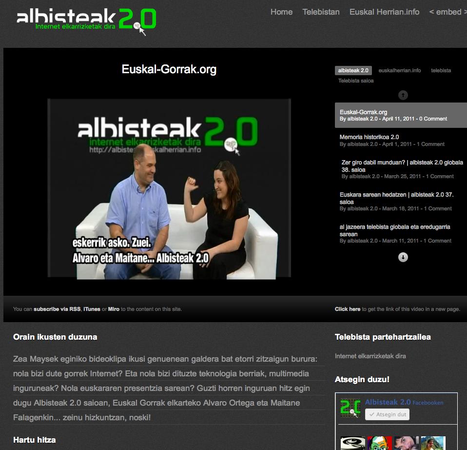 Albisteak 2.0 zeinu hizkuntzan