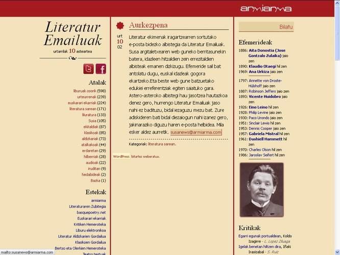 Literatur Emailuak