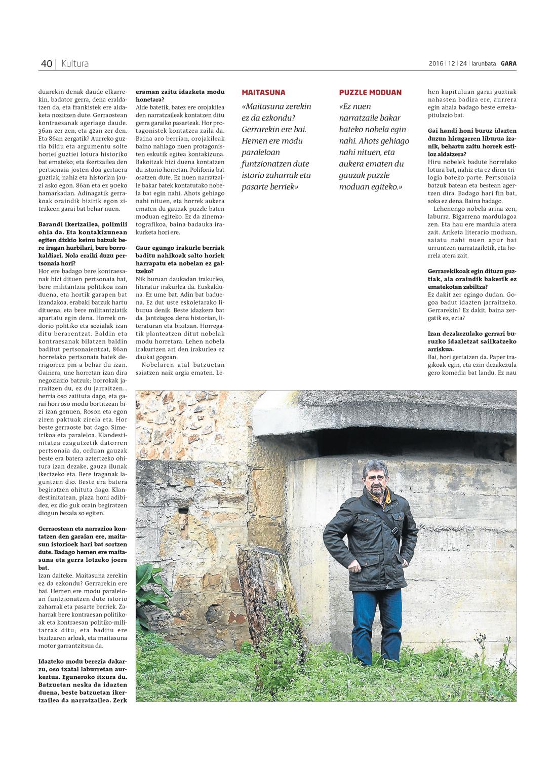 Josi Basterretxea GARA egunkarian